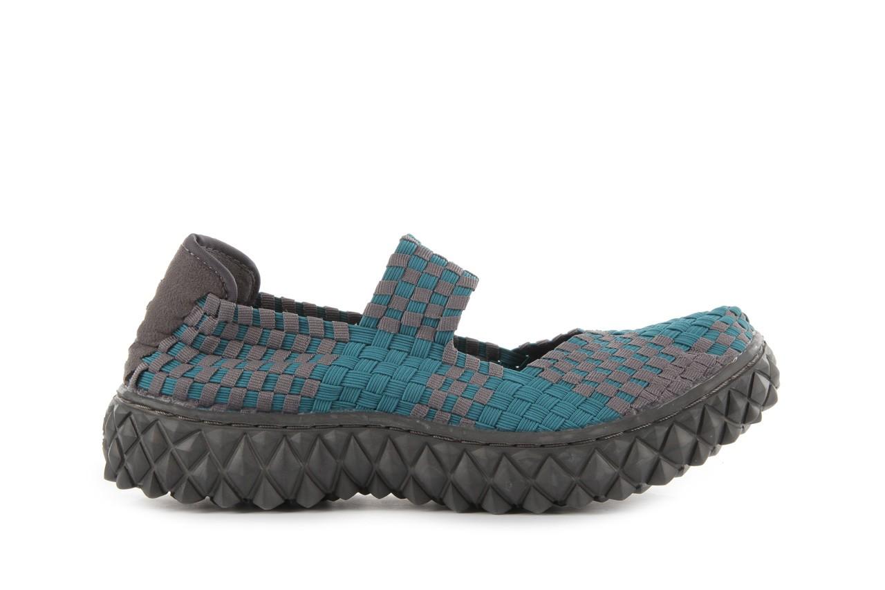 Sandały rock over petrol-grey, niebieski/ szary, materiał - rock - nasze marki 8