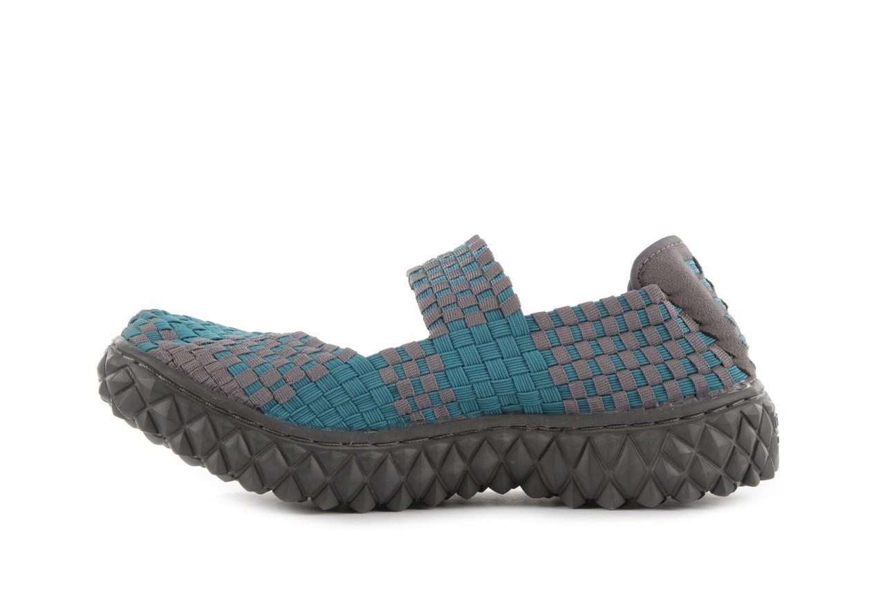 Sandały rock over petrol-grey, niebieski/ szary, materiał - rock - nasze marki 10