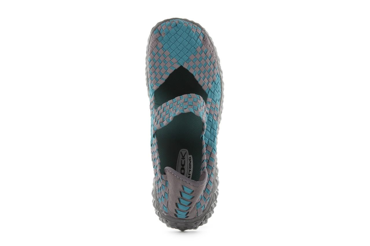 Sandały rock over petrol-grey, niebieski/ szary, materiał - rock - nasze marki 12