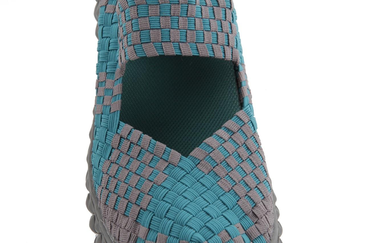 Sandały rock over petrol-grey, niebieski/ szary, materiał - rock - nasze marki 14