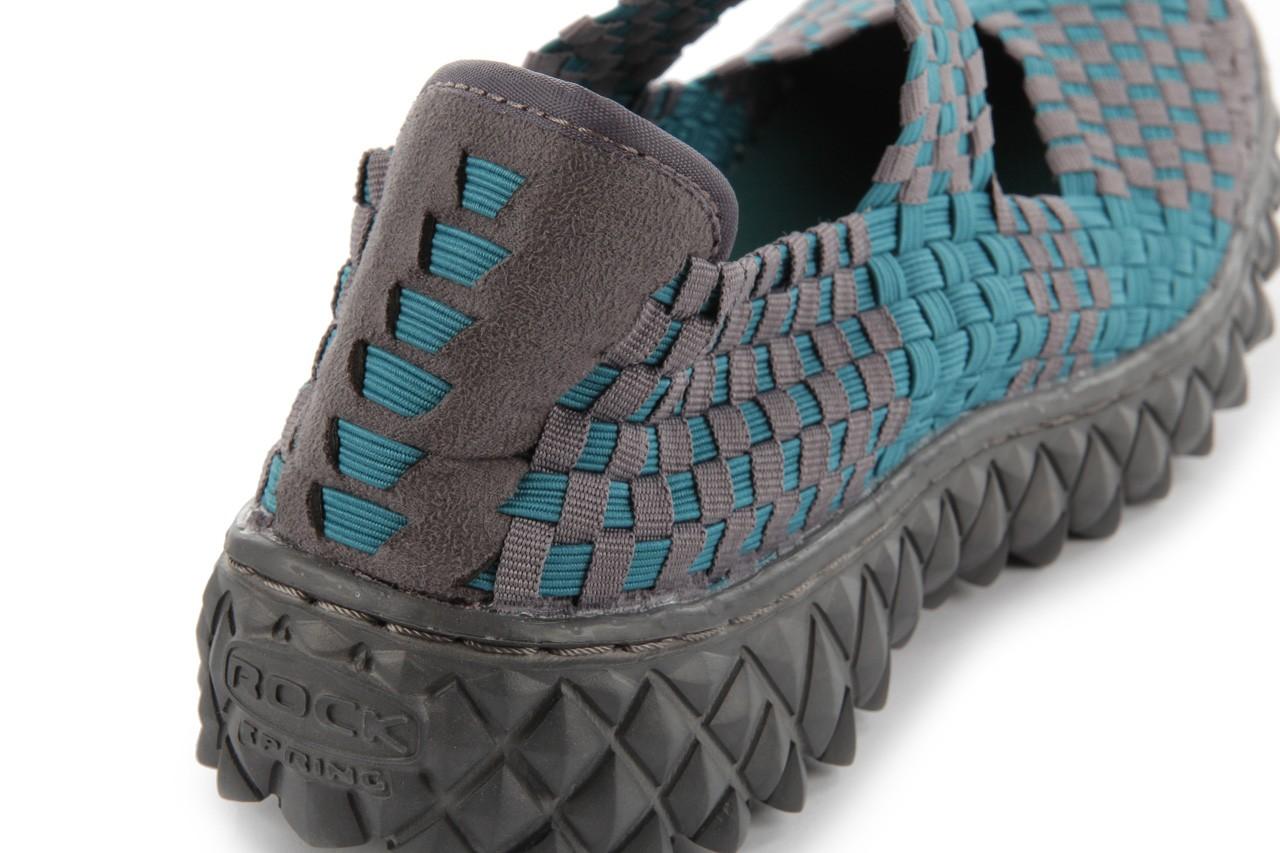 Sandały rock over petrol-grey, niebieski/ szary, materiał - rock - nasze marki 15
