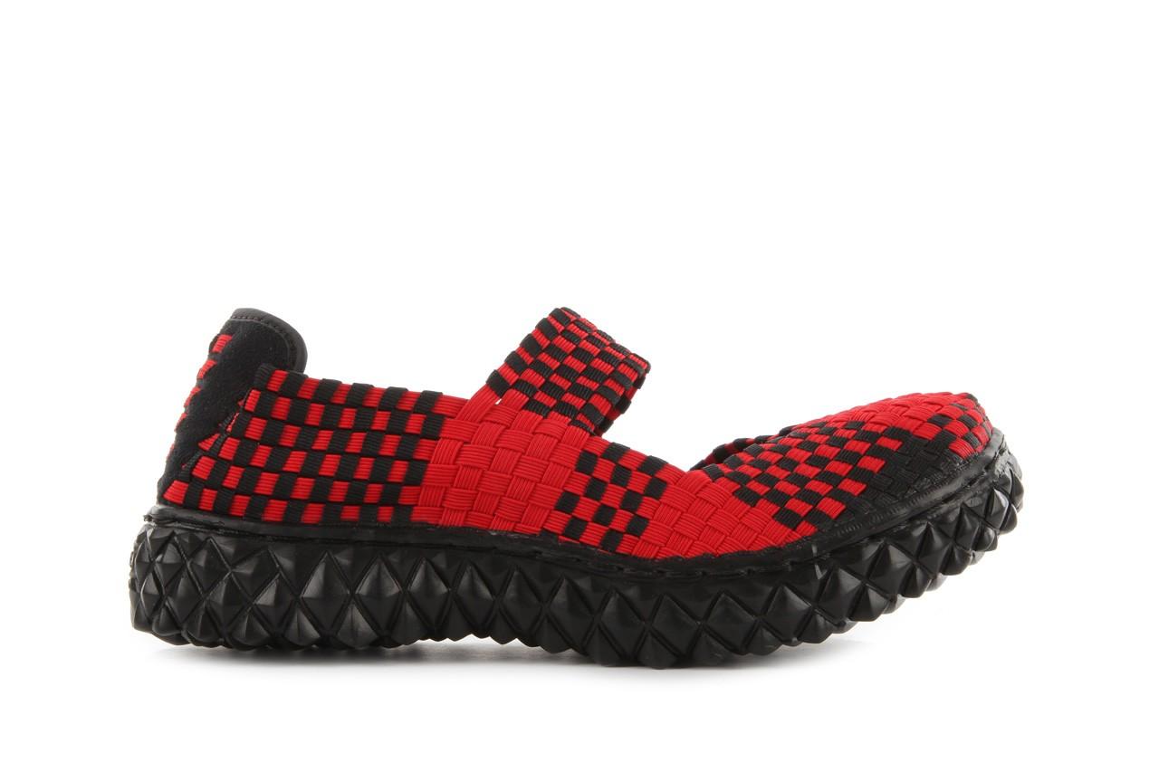 Sandały rock over red-black, czerwony/ czarny, materiał  - rock - nasze marki 8