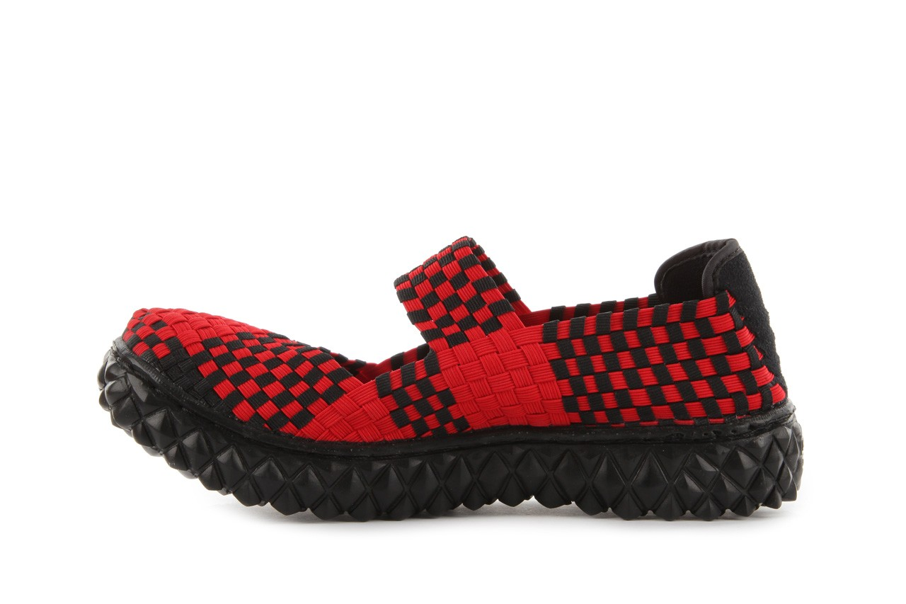 Sandały rock over red-black, czerwony/ czarny, materiał  - rock - nasze marki 10