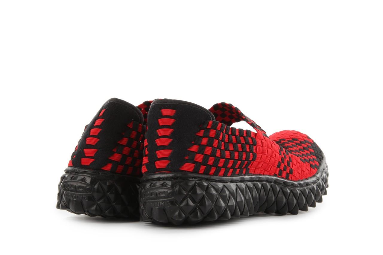 Sandały rock over red-black, czerwony/ czarny, materiał  - rock - nasze marki 11