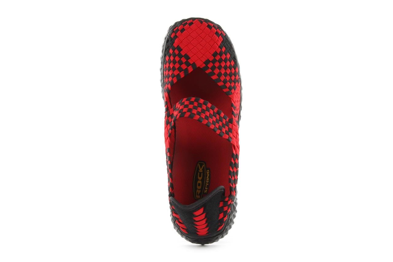Sandały rock over red-black, czerwony/ czarny, materiał  - rock - nasze marki 12
