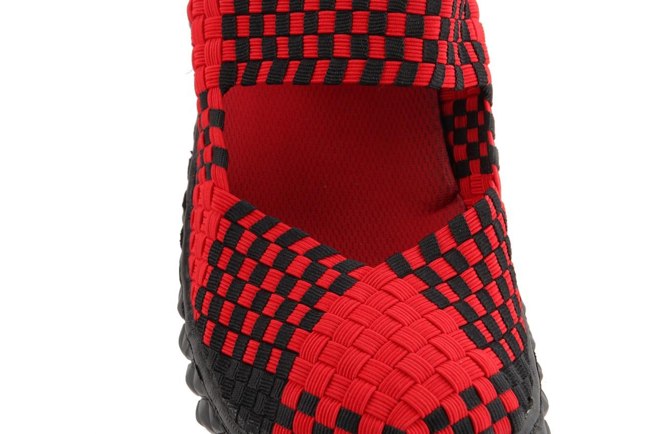 Sandały rock over red-black, czerwony/ czarny, materiał  - rock - nasze marki 14