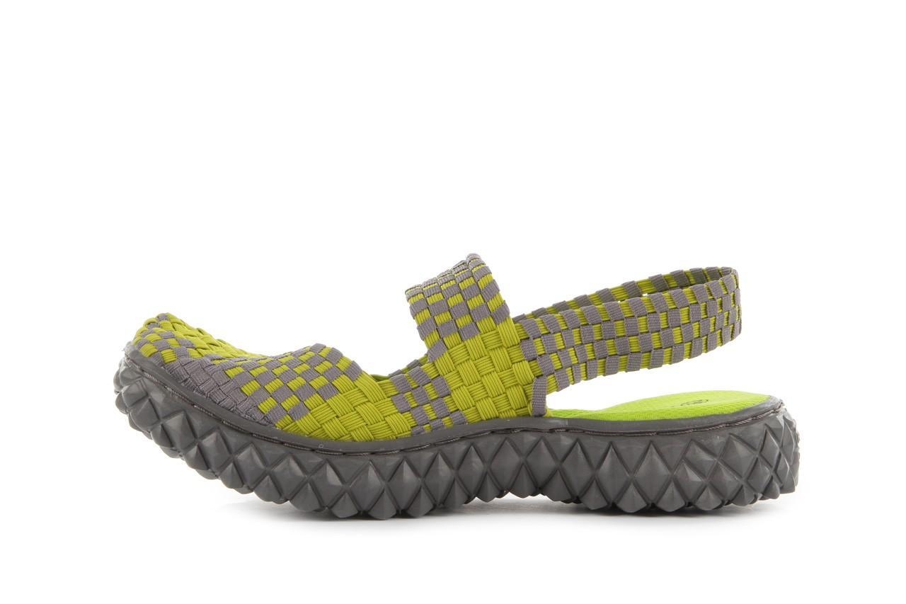 Sandały rock over sandal green-grey, zielony/ szary, materiał  - rock - nasze marki 9