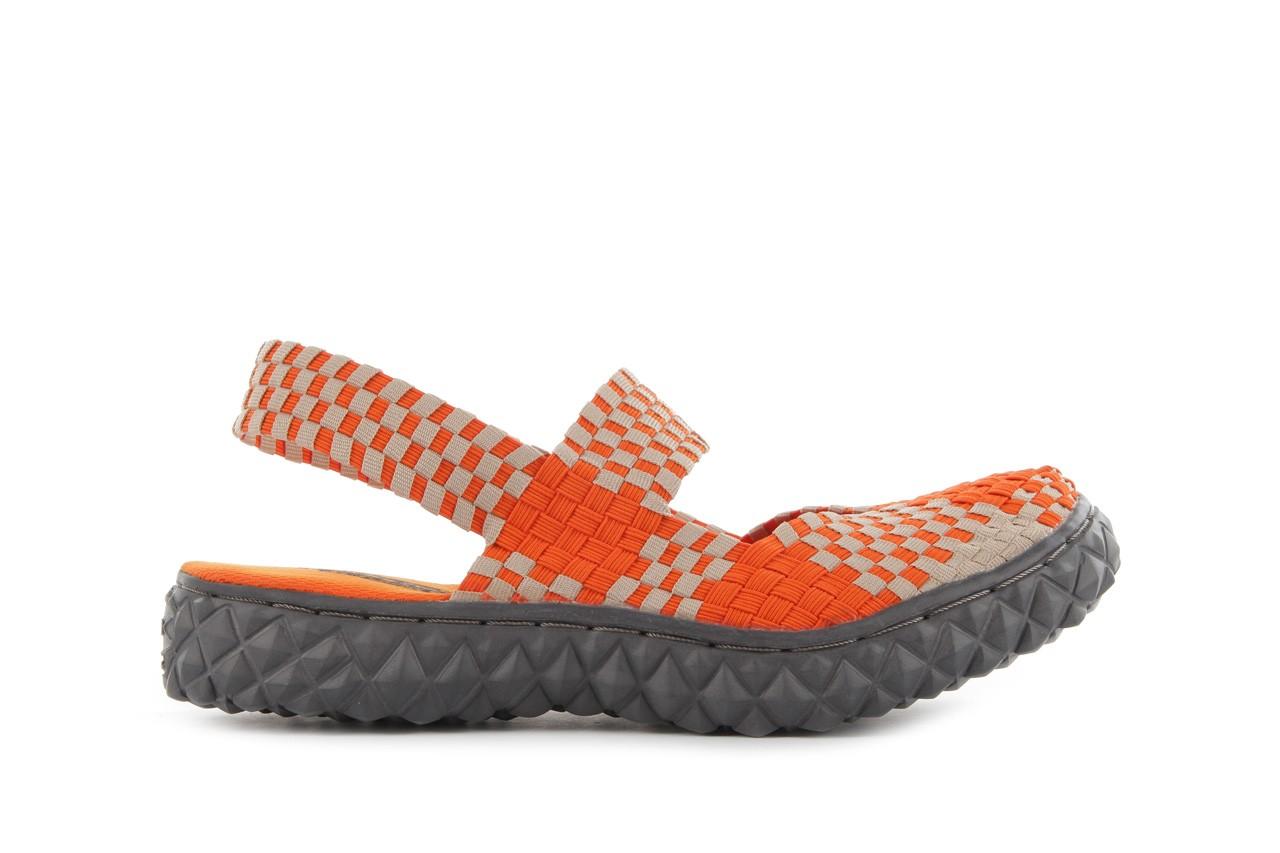 Sandały rock over sandal orange-beige, pomarańcz/beż, materiał 7