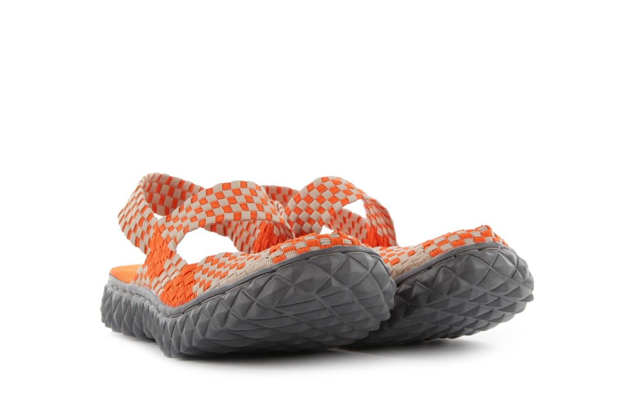 Sandały rock over sandal orange-beige, pomarańcz/beż, materiał 8