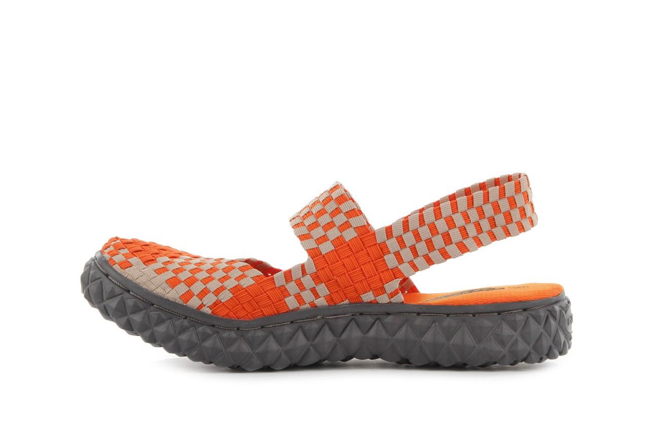 Sandały rock over sandal orange-beige, pomarańcz/beż, materiał 9