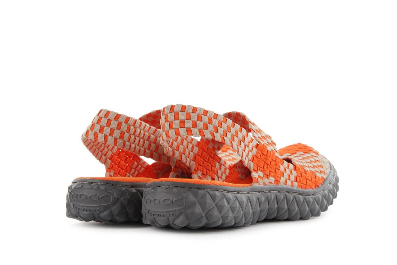 Sandały rock over sandal orange-beige, pomarańcz/beż, materiał 10