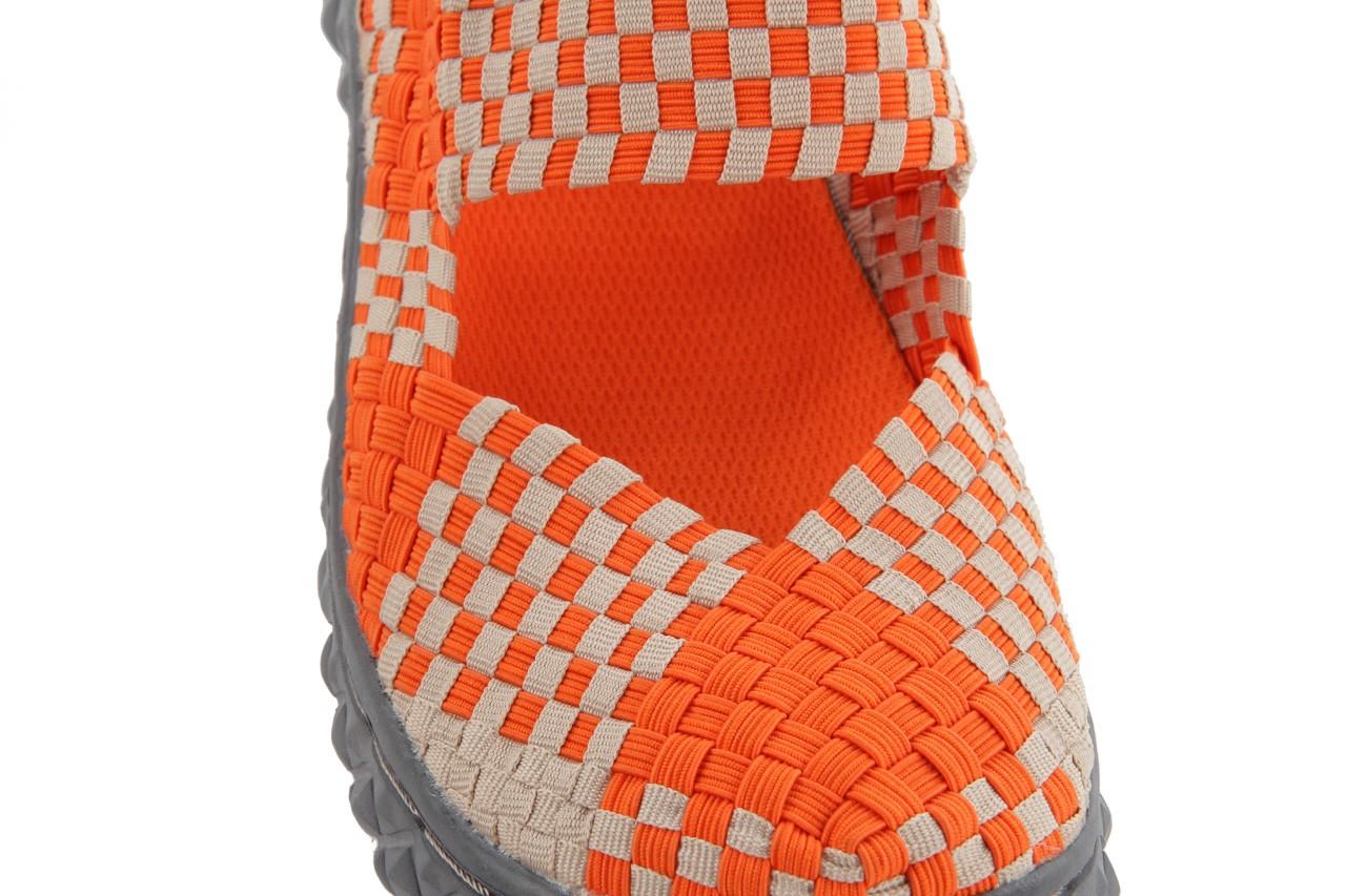 Sandały rock over sandal orange-beige, pomarańcz/beż, materiał 12