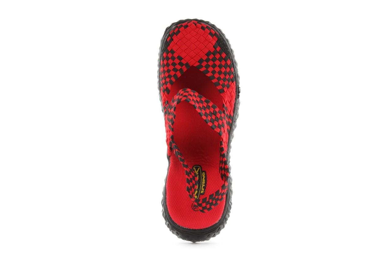 Sandały rock over sandal red-black, czarny/ czerwony, materiał - rock - nasze marki 11