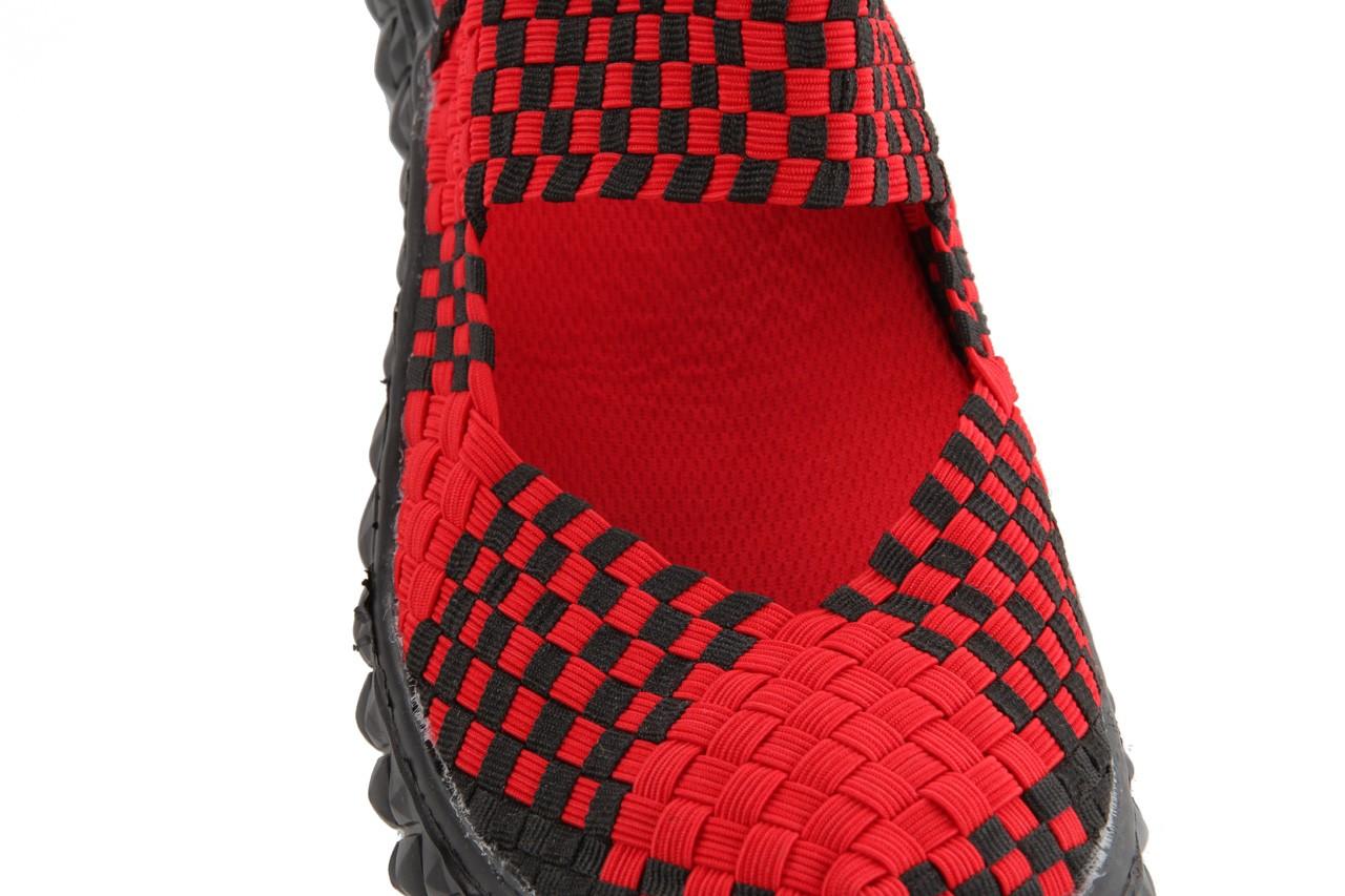 Sandały rock over sandal red-black, czarny/ czerwony, materiał - rock - nasze marki 12