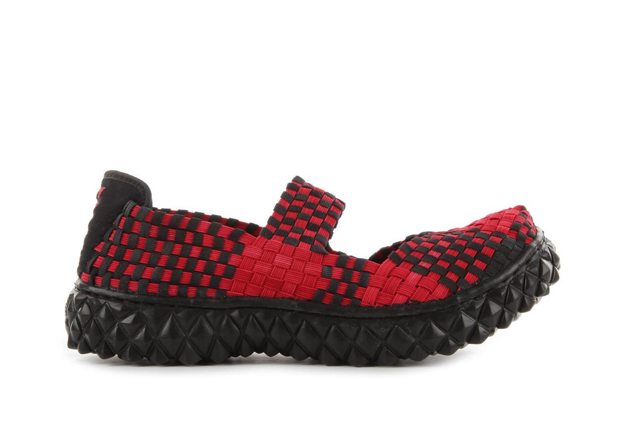 Sandały rock over washed red-black, czarny/ czerwony, materiał - rock - nasze marki 8