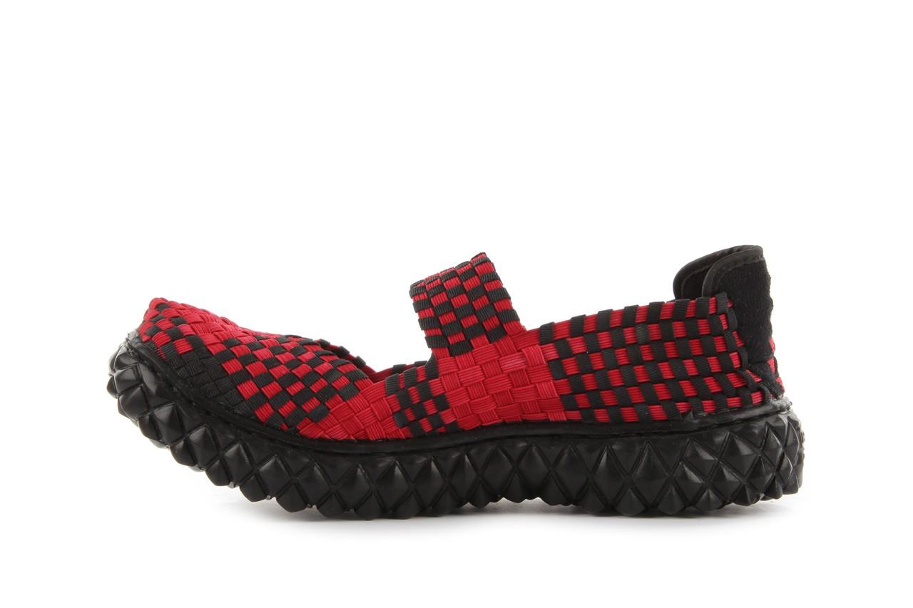 Sandały rock over washed red-black, czarny/ czerwony, materiał - rock - nasze marki 10