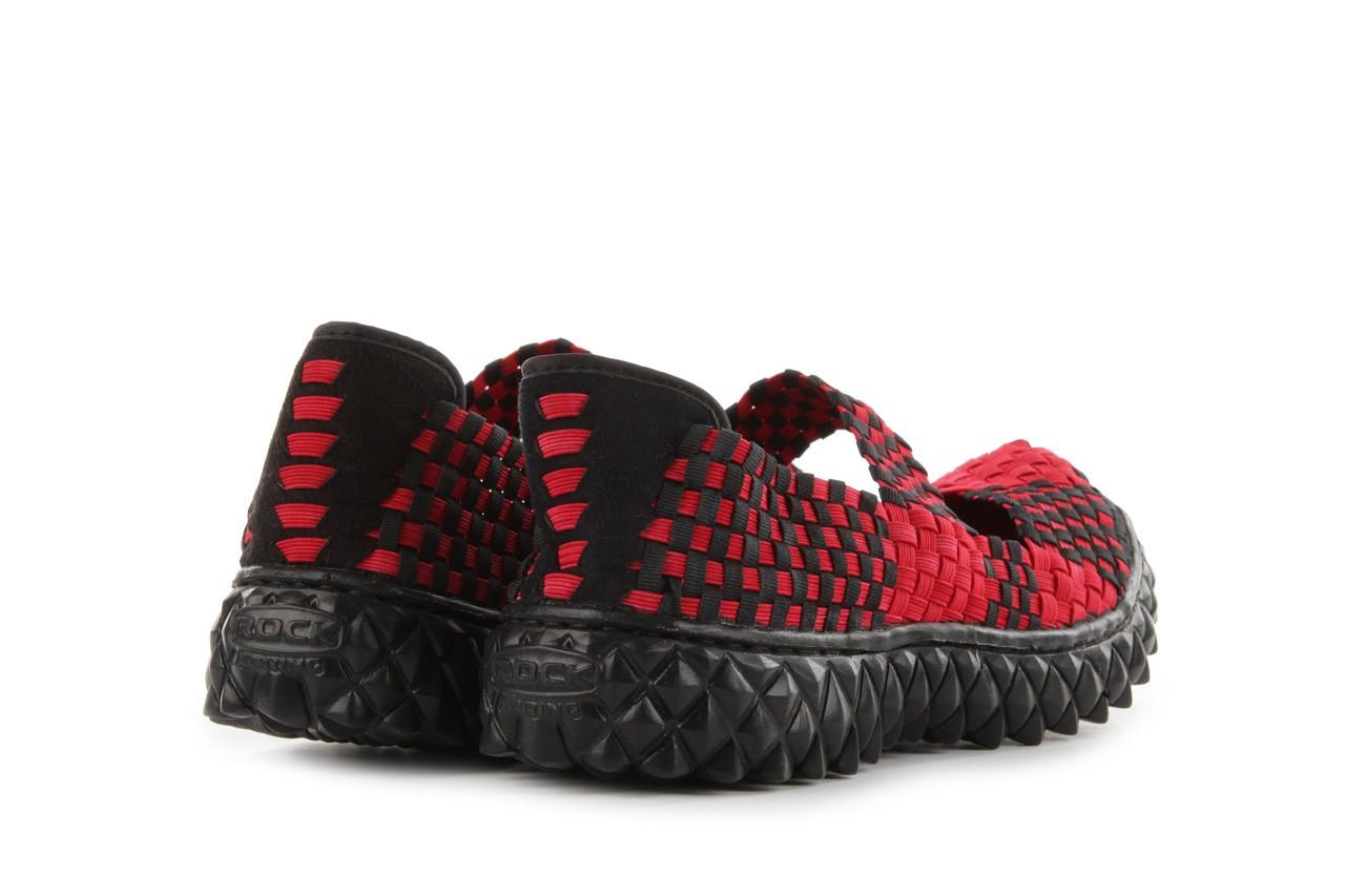 Sandały rock over washed red-black, czarny/ czerwony, materiał - rock - nasze marki 11
