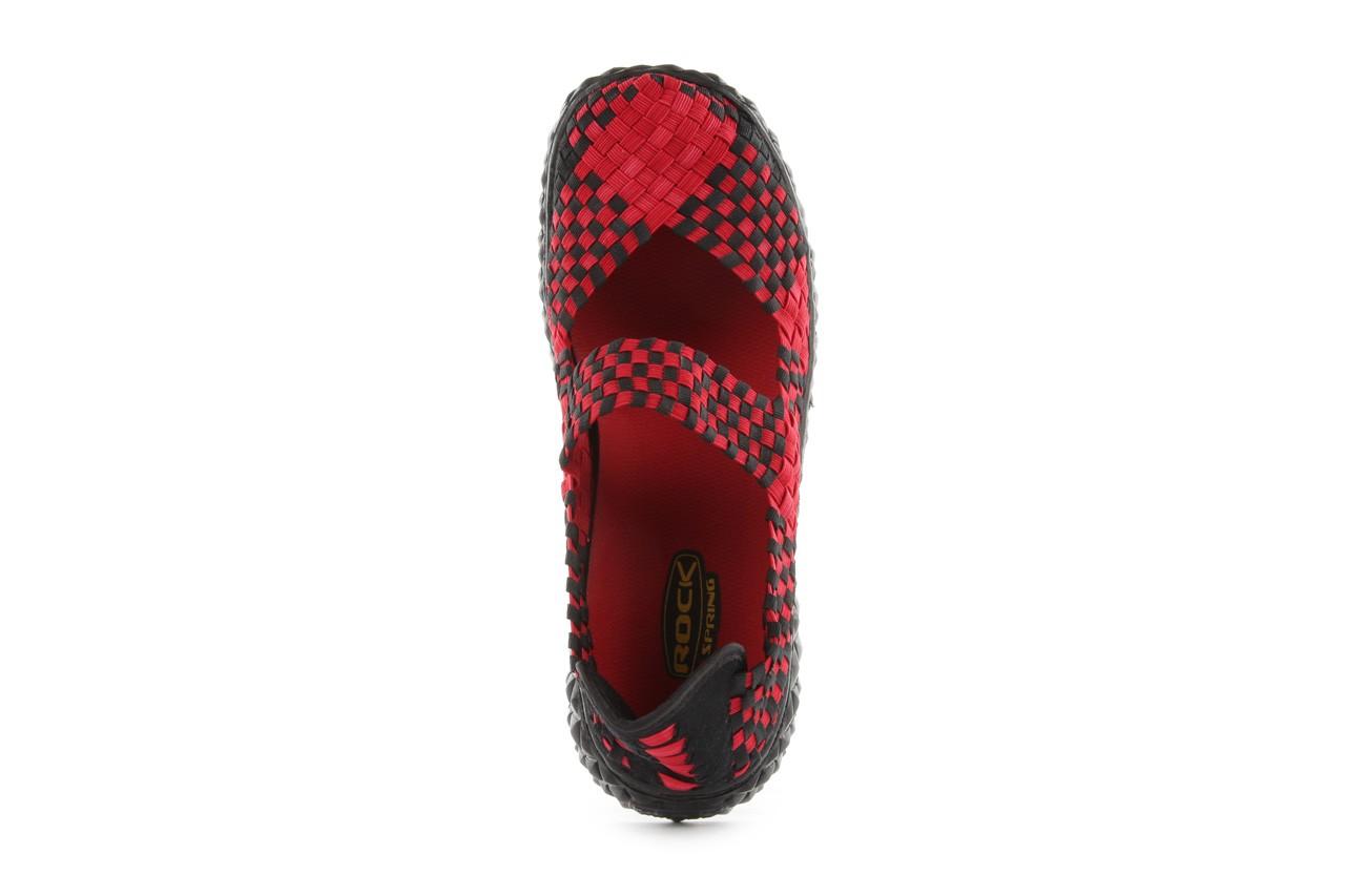 Sandały rock over washed red-black, czarny/ czerwony, materiał - rock - nasze marki 12
