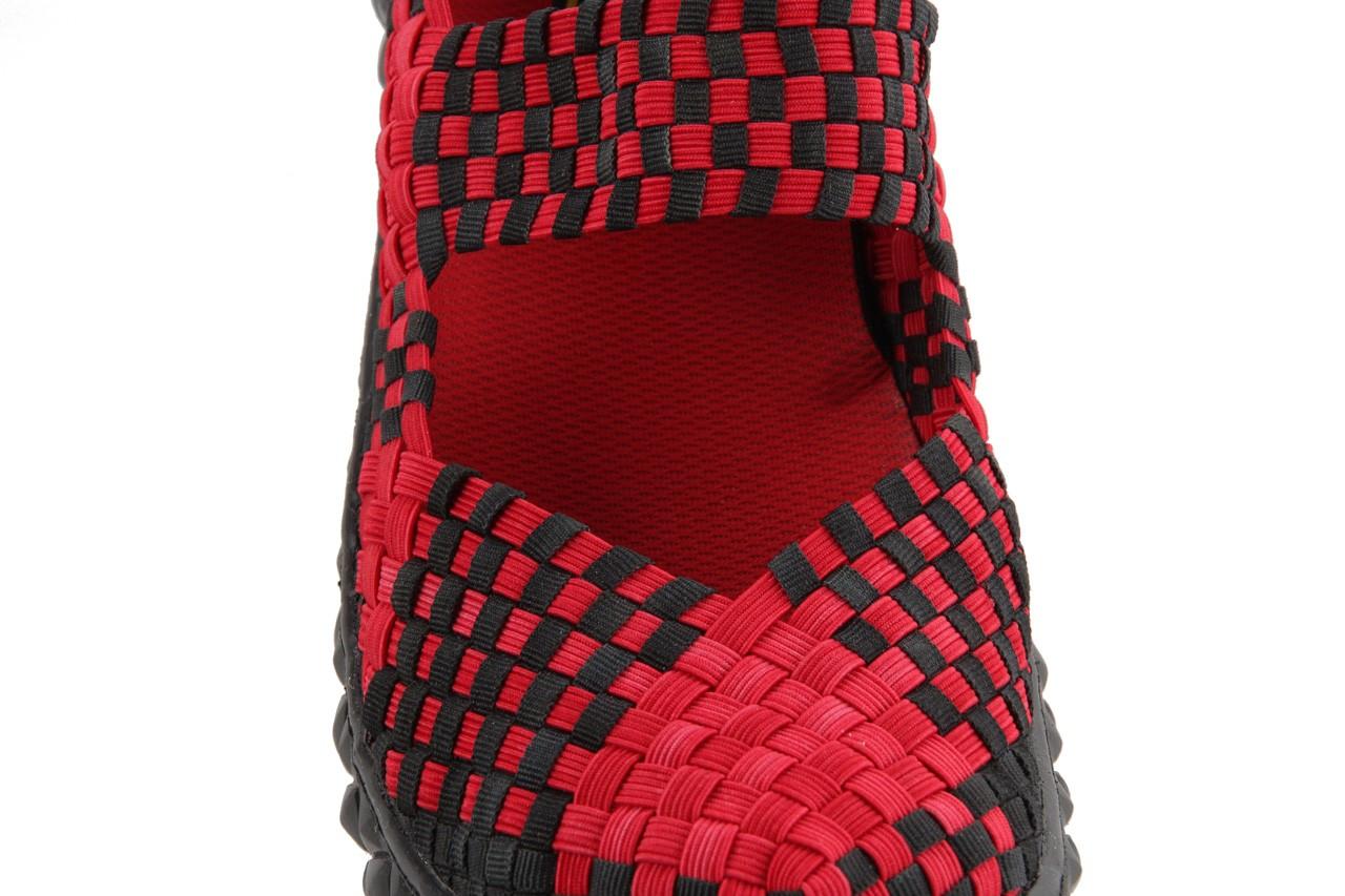 Sandały rock over washed red-black, czarny/ czerwony, materiał - rock - nasze marki 14