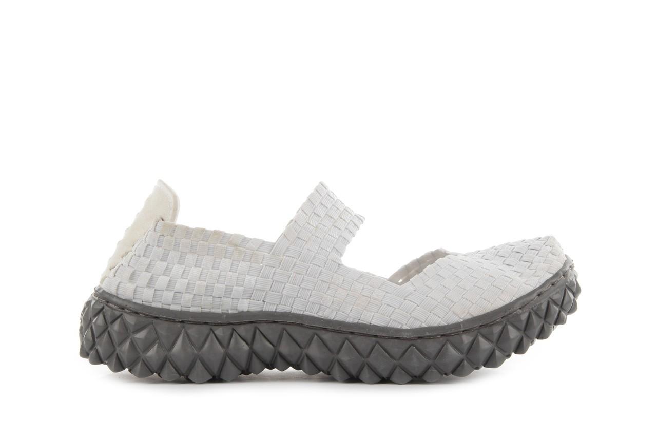 Sandały rock over white, biały, materiał 8