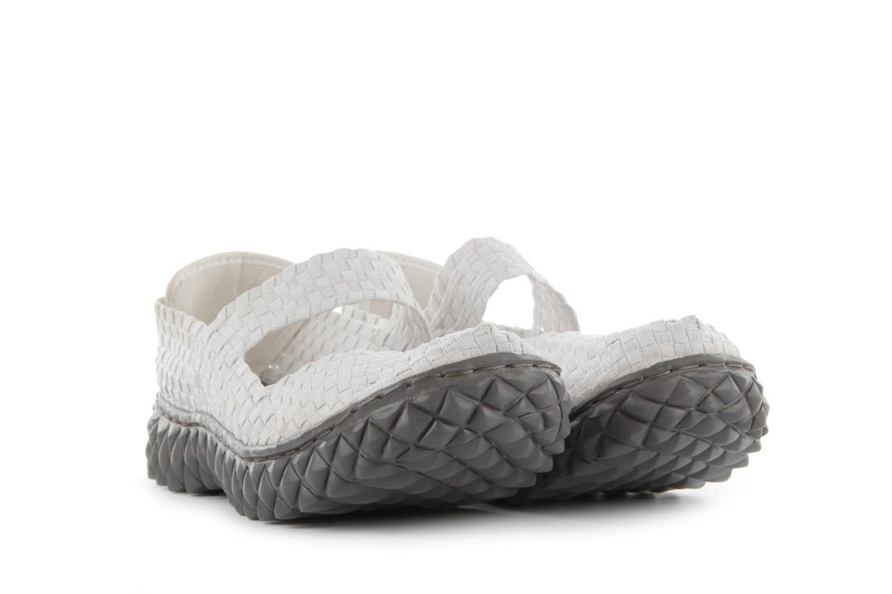 Sandały rock over white, biały, materiał 9