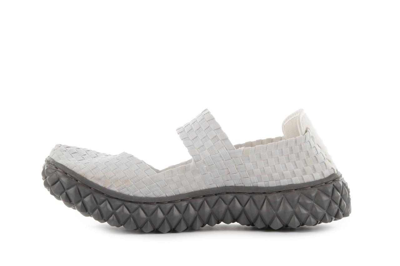 Sandały rock over white, biały, materiał 10