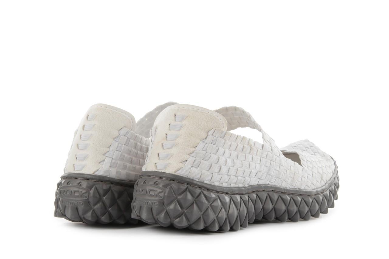 Sandały rock over white, biały, materiał 11
