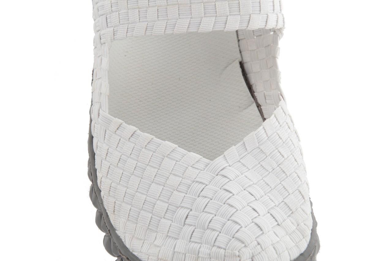 Sandały rock over white, biały, materiał 14