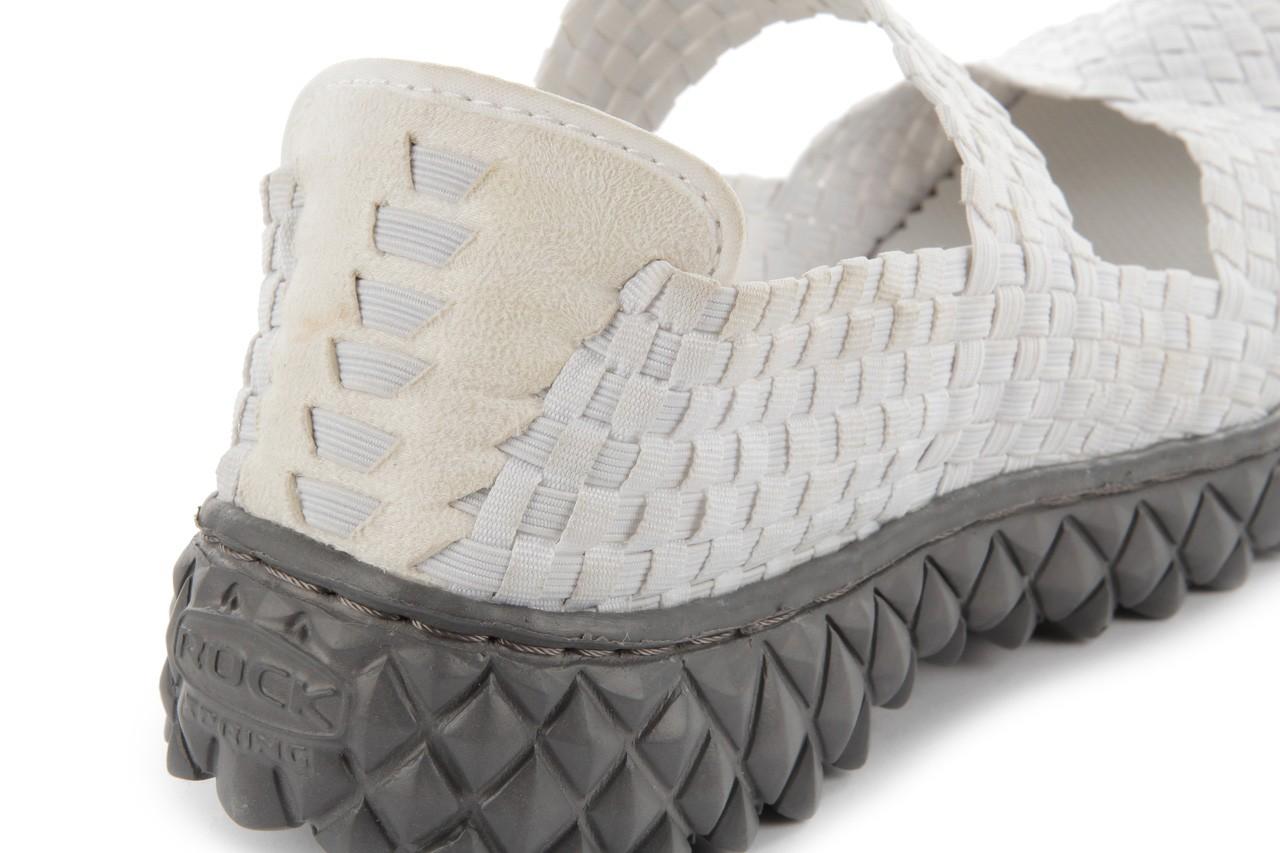 Sandały rock over white, biały, materiał 13