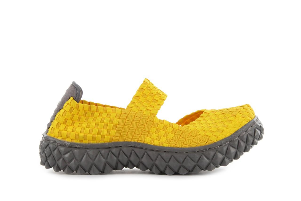 Sandały rock over yellow, żółty, materiał 8