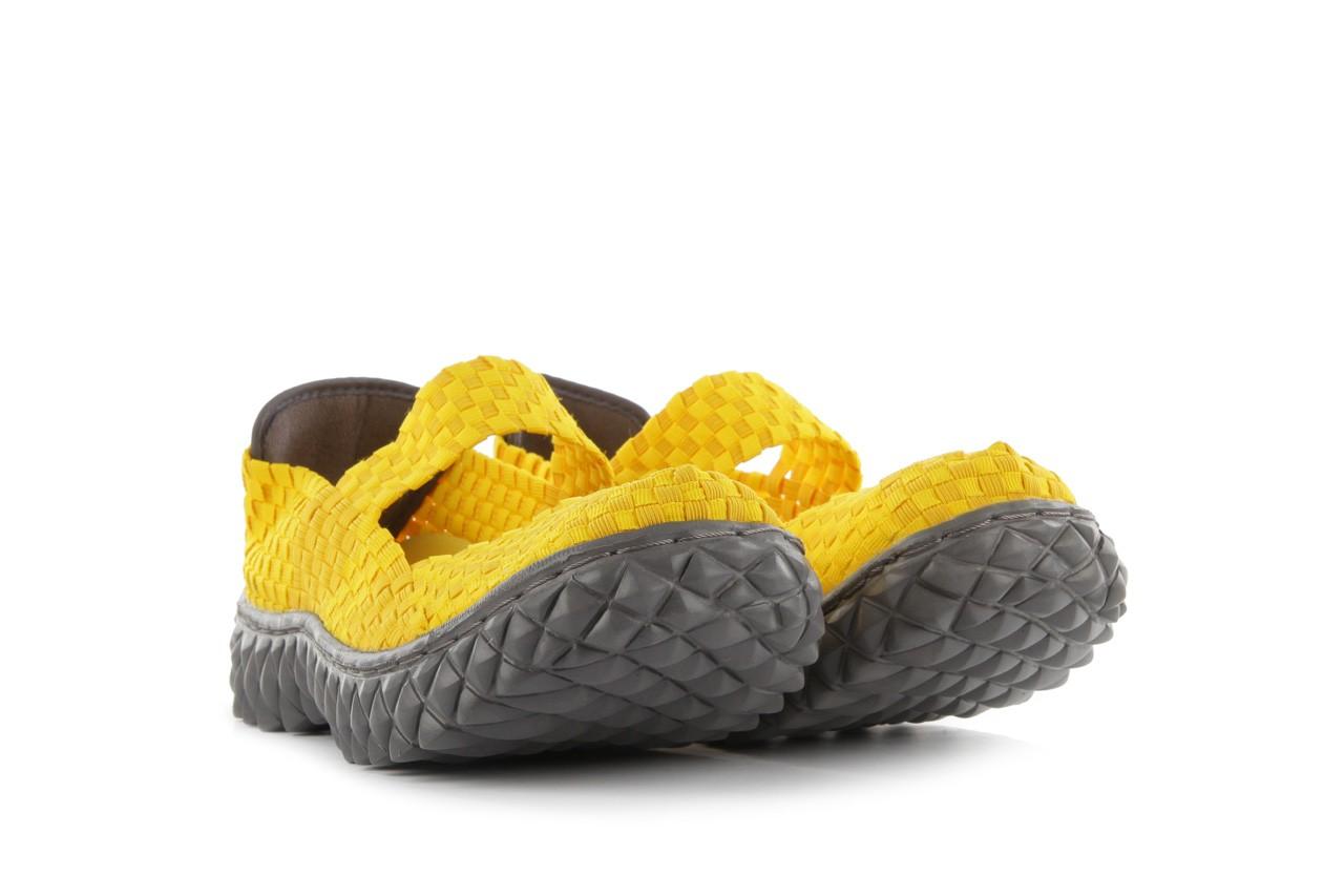 Sandały rock over yellow, żółty, materiał 9