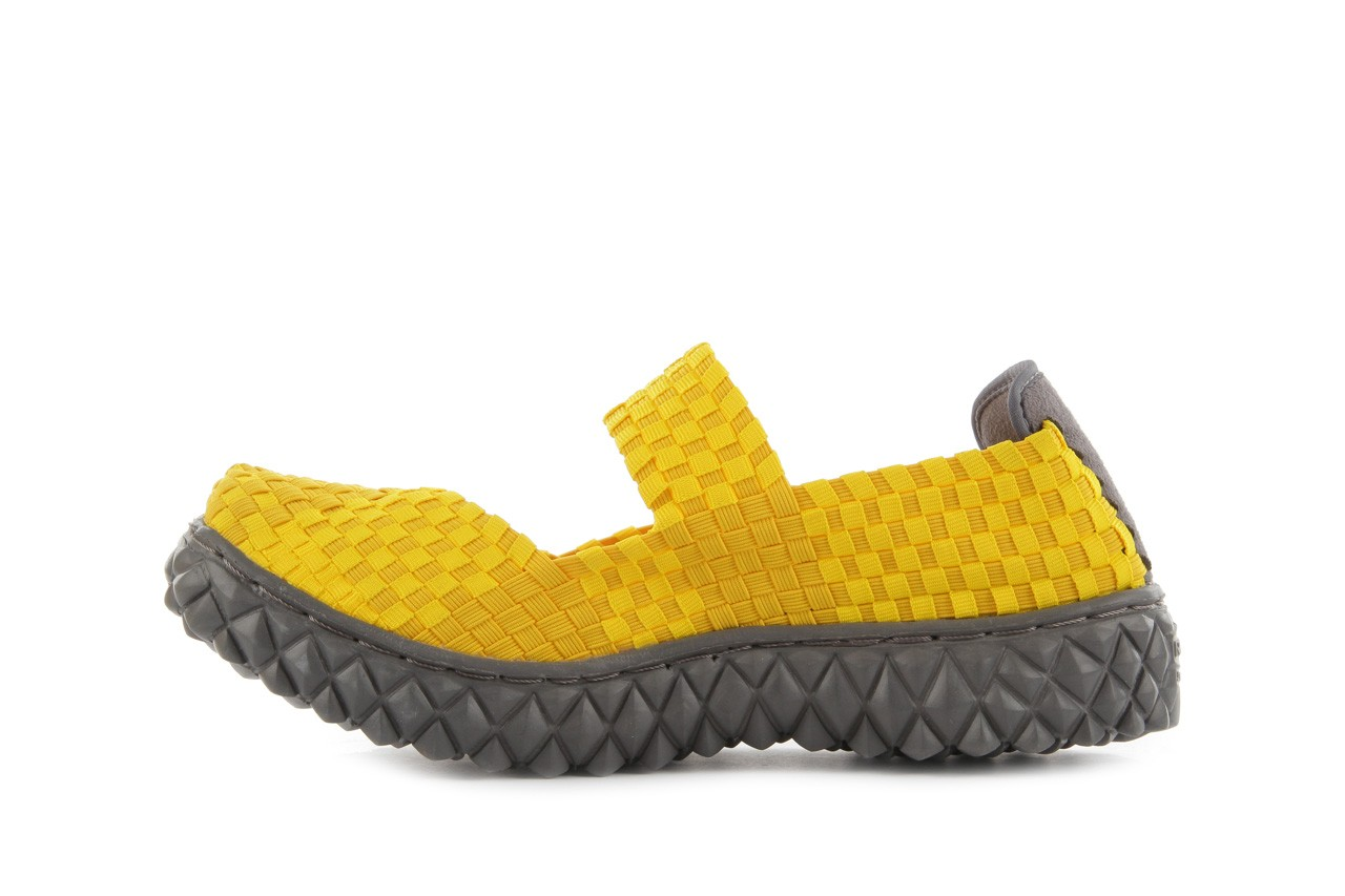 Sandały rock over yellow, żółty, materiał 10