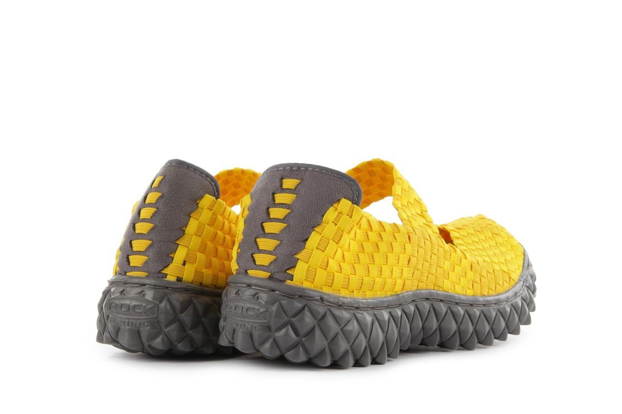 Sandały rock over yellow, żółty, materiał 11