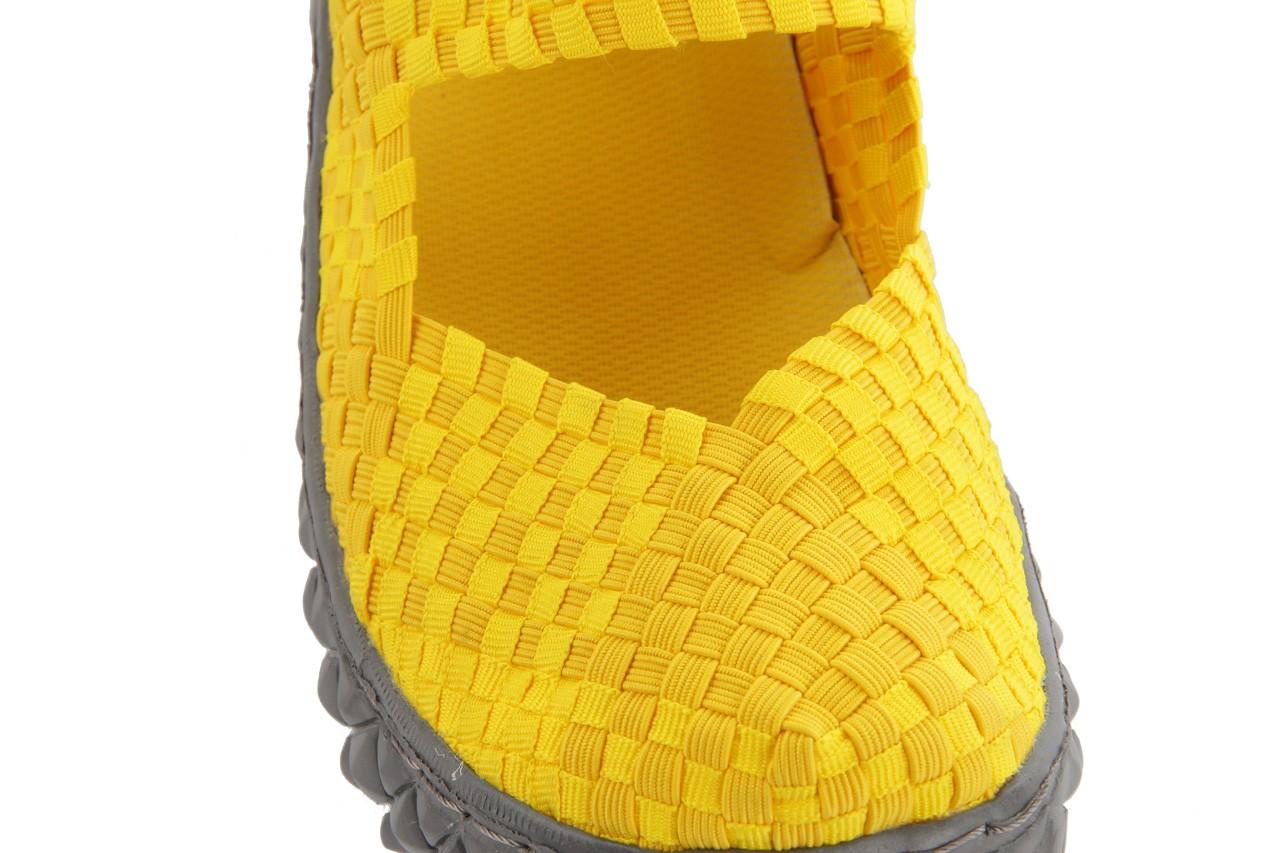 Sandały rock over yellow, żółty, materiał 13