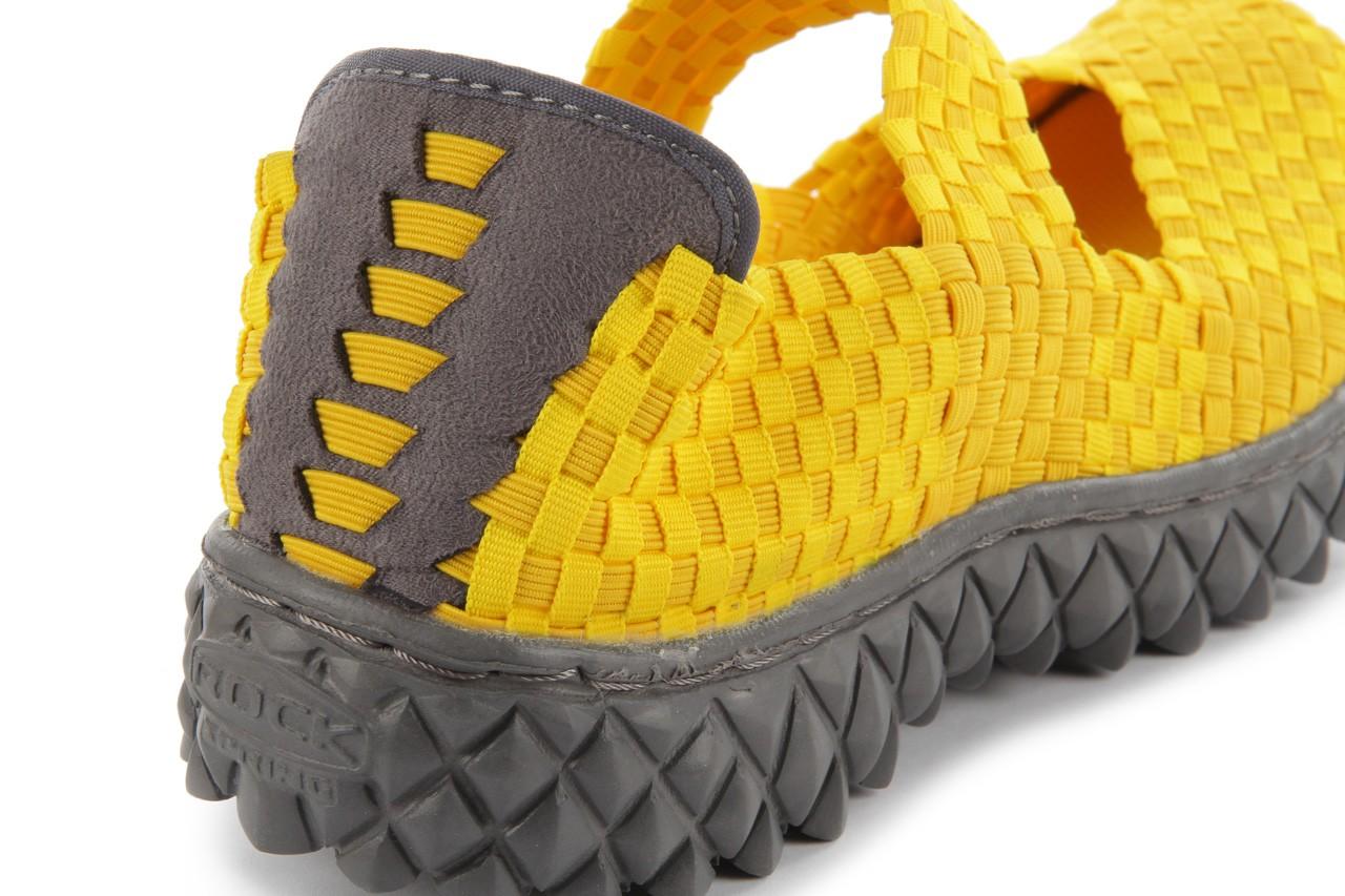 Sandały rock over yellow, żółty, materiał 14