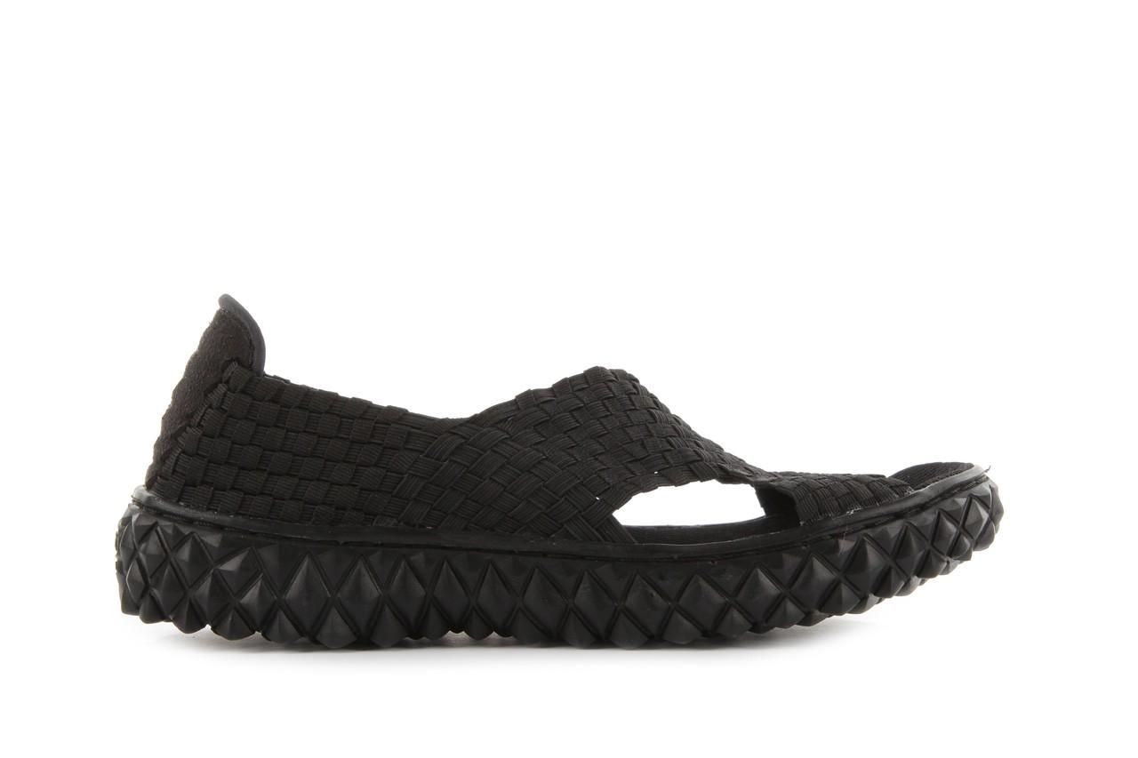 Sandały rock romus black, czarny, materiał - rock - nasze marki 5