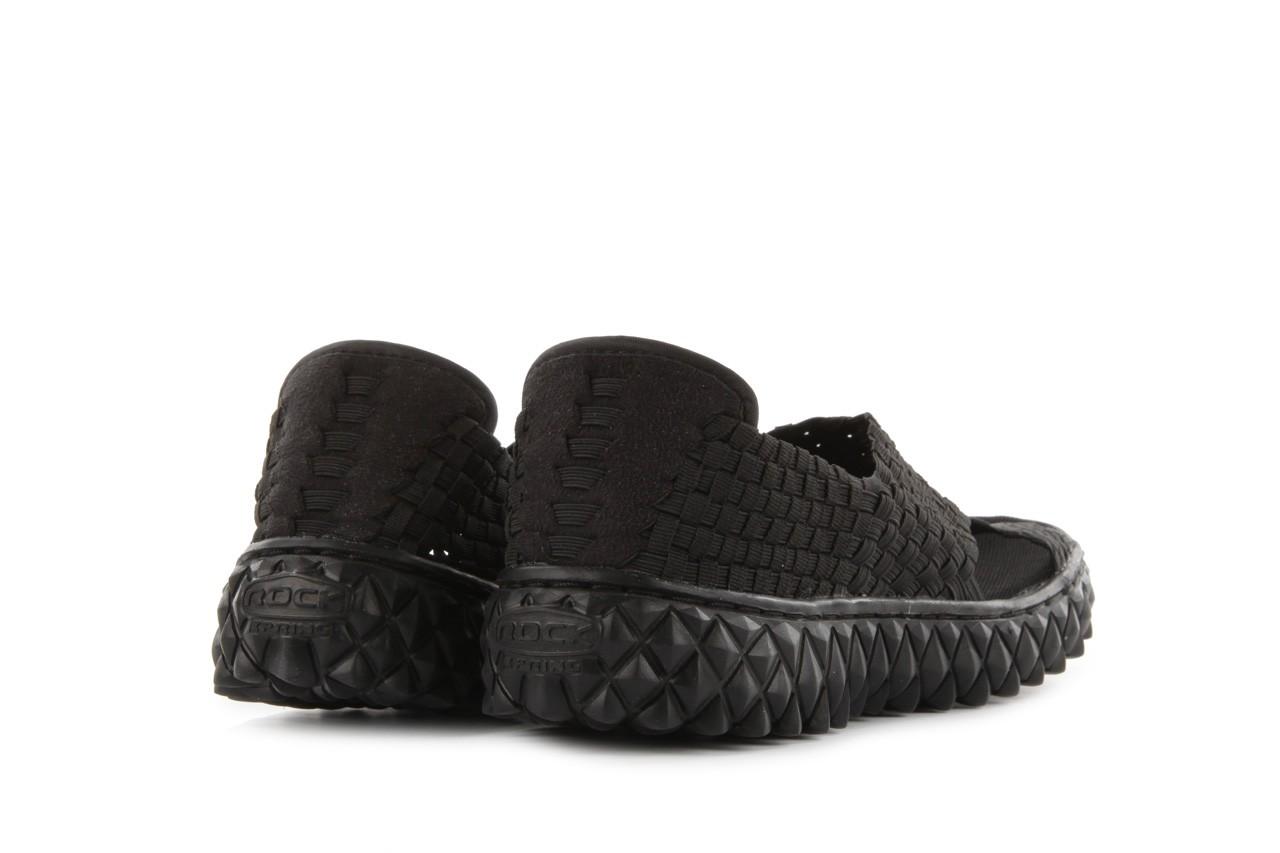Sandały rock romus black, czarny, materiał - rock - nasze marki 8
