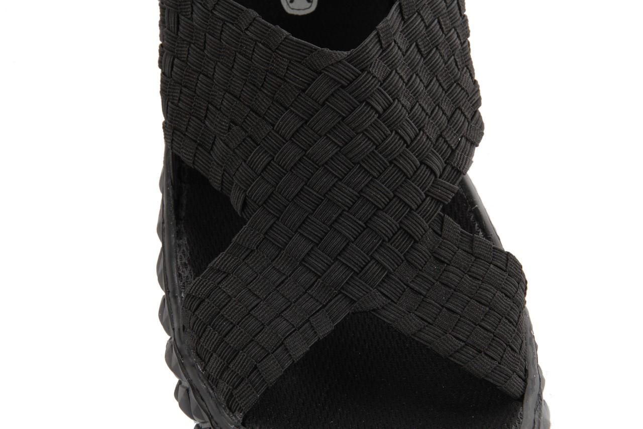 Sandały rock romus black, czarny, materiał - rock - nasze marki 9