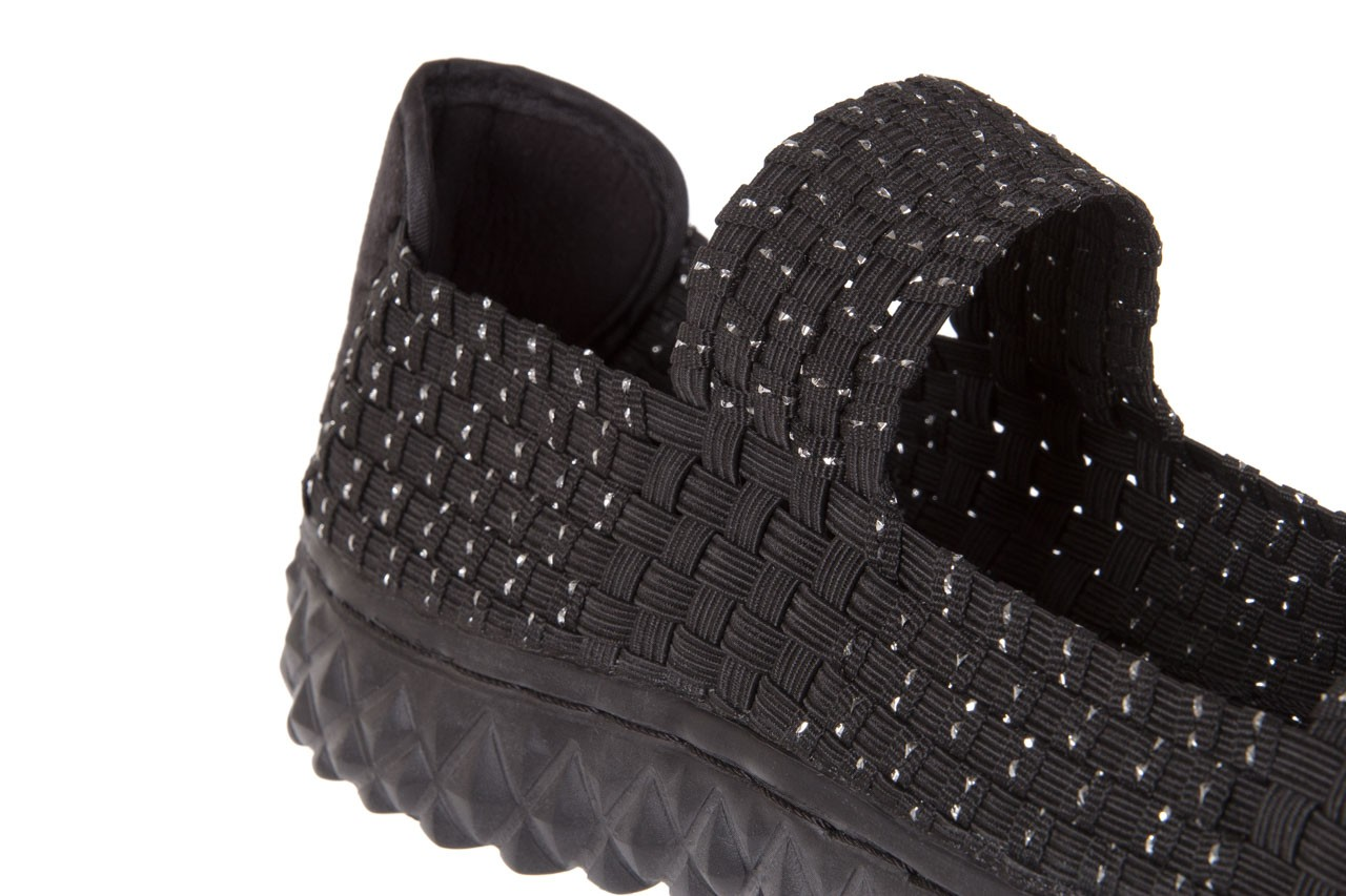 Sandały rock sandal 2 closed black-silver, czarny/srebrny, materiał - rock - nasze marki 11