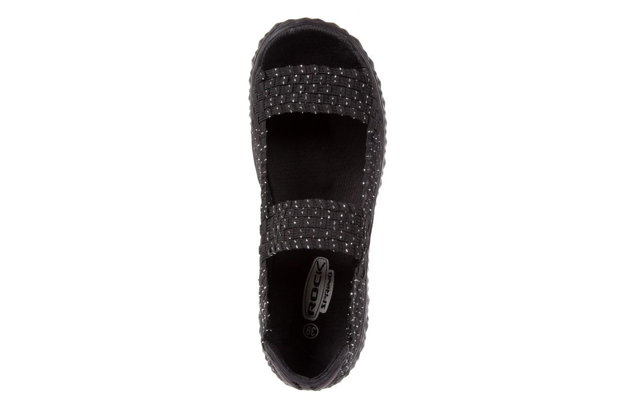 Sandały rock sandal 2 closed black-silver, czarny/srebrny, materiał - rock - nasze marki 10