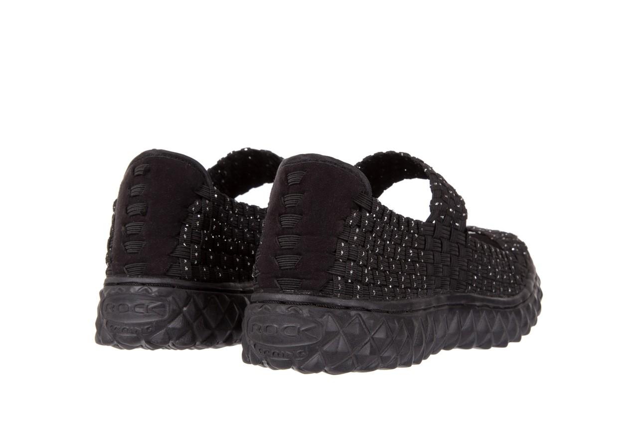 Sandały rock sandal 2 closed black-silver, czarny/srebrny, materiał - rock - nasze marki 9