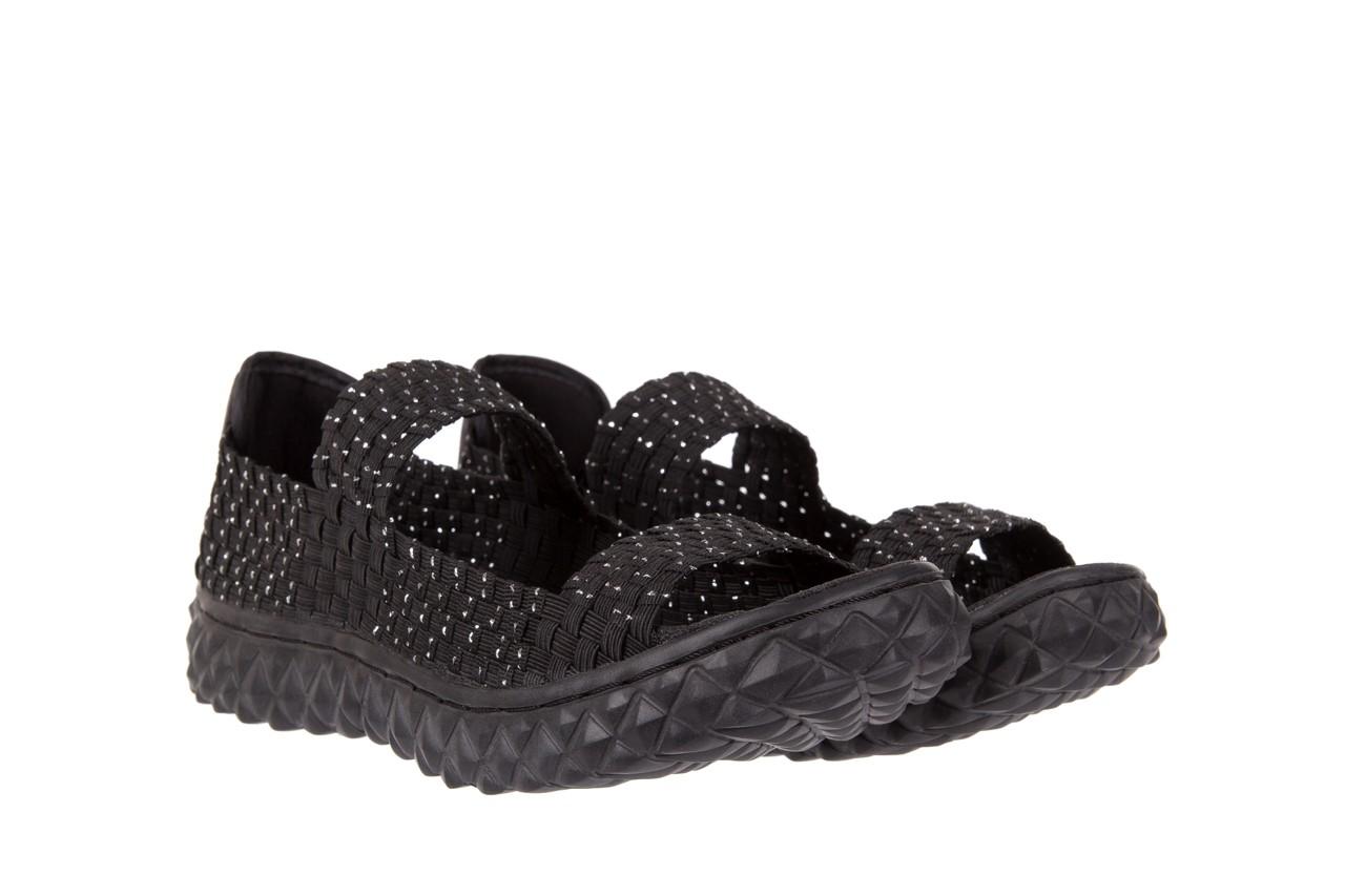 Sandały rock sandal 2 closed black-silver, czarny/srebrny, materiał - rock - nasze marki 7