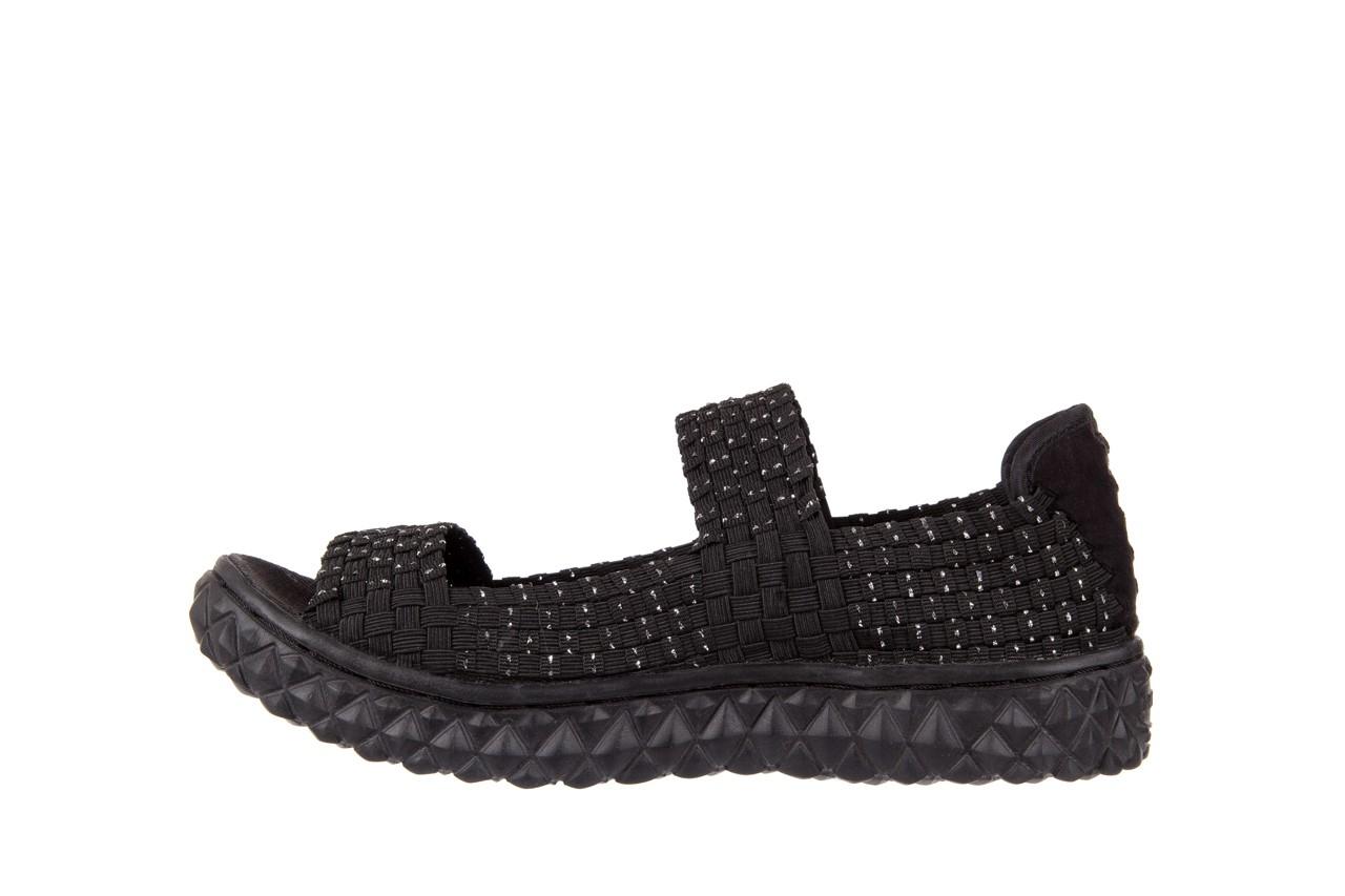 Sandały rock sandal 2 closed black-silver, czarny/srebrny, materiał - rock - nasze marki 8