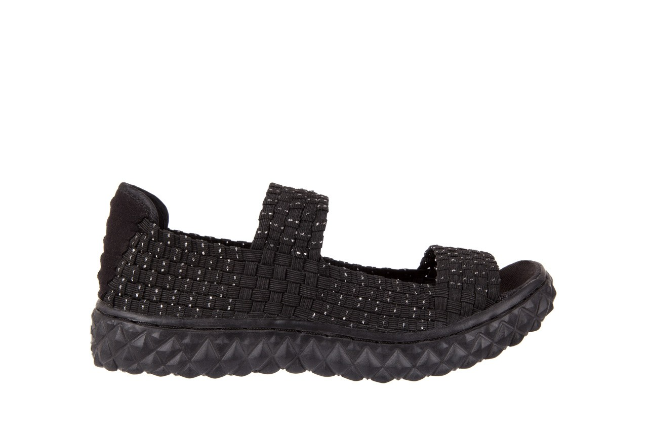 Sandały rock sandal 2 closed black-silver, czarny/srebrny, materiał - rock - nasze marki 6