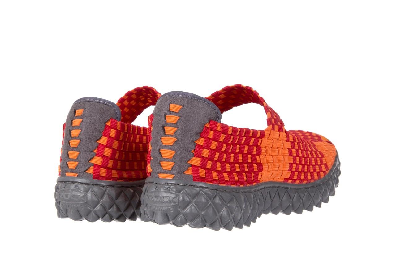 Sandały rock sandal 2 closed orange-bordo, pomarańczowy/ bordowy, materiał - rock - nasze marki 9