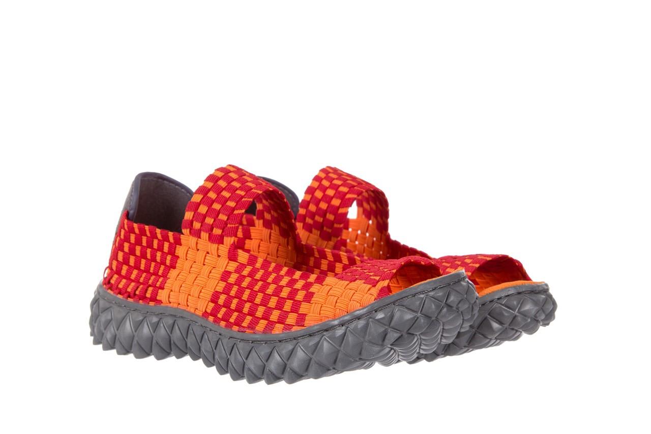Sandały rock sandal 2 closed orange-bordo, pomarańczowy/ bordowy, materiał - rock - nasze marki 7