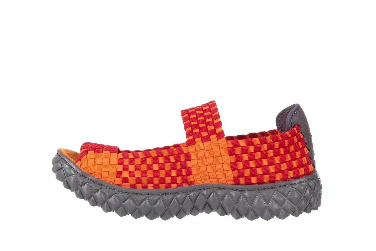 Sandały rock sandal 2 closed orange-bordo, pomarańczowy/ bordowy, materiał - rock - nasze marki 8
