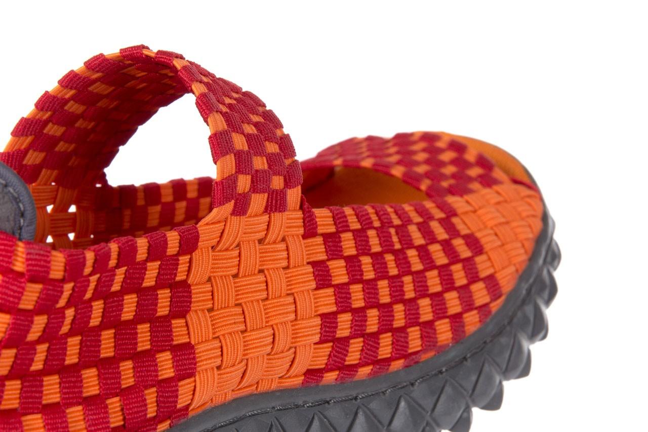 Sandały rock sandal 2 closed orange-bordo, pomarańczowy/ bordowy, materiał - rock - nasze marki 11