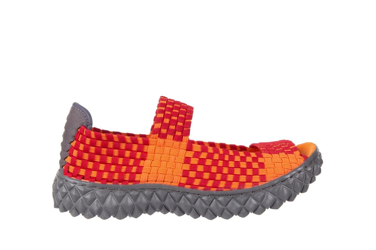Sandały rock sandal 2 closed orange-bordo, pomarańczowy/ bordowy, materiał - rock - nasze marki 6