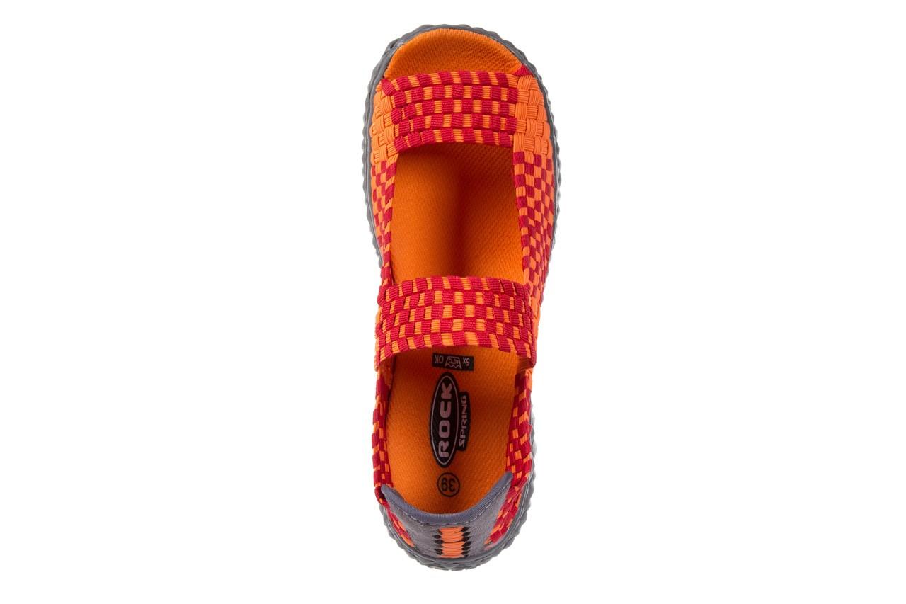 Sandały rock sandal 2 closed orange-bordo, pomarańczowy/ bordowy, materiał - rock - nasze marki 10